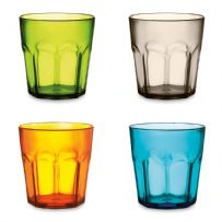 Pack of Six 400ml Plastic Colourful Cups